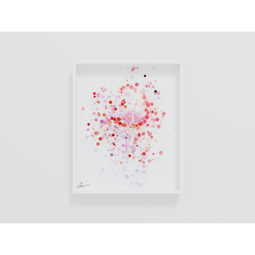 Pointillist Flamingo by Yoni Alter