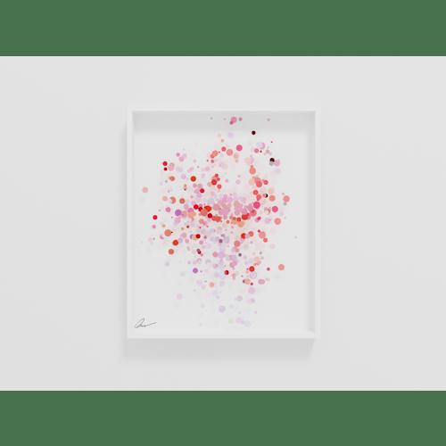 Pointillist Flamingo by Yoni Alter