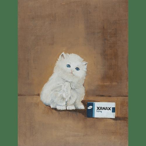 Xanax Kitty by James Pouliot