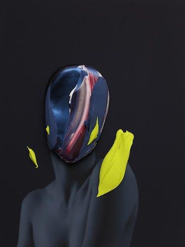Fabio la Fauci, Midnight Portrait III, 2020, Mixed Media (Framed) 30 × 40 cm 11 3/4 × 15 5/8 in.