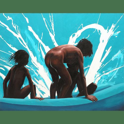 Children with a splash by Julita Malinowska