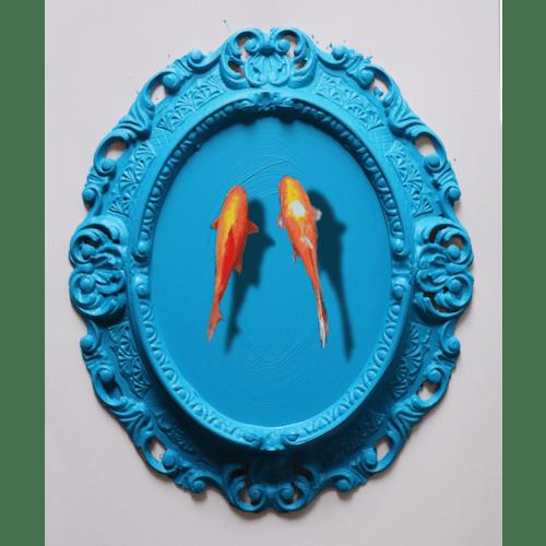 A blue friendship by Golsa Golchini
