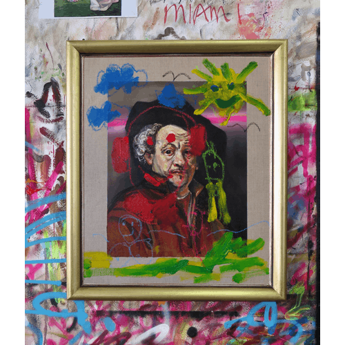 After Rembrandt, Self Portrait by Frans Smit