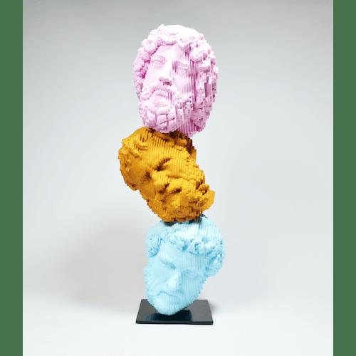 Heads will roll (Bearded Men Pastel) by Daniele Fortuna