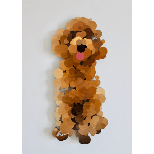 A Happy Pointillist Cockapoo by Yoni Alter