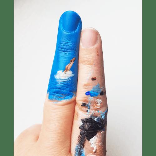 Fingers Hug by Golsa Golchini