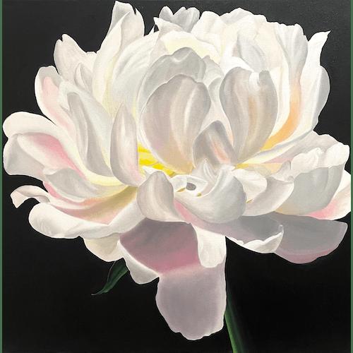 White Peony by Oksana Vinnichenko