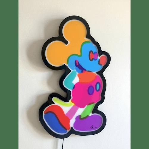 Illuminated Mickey by Yoni Alter