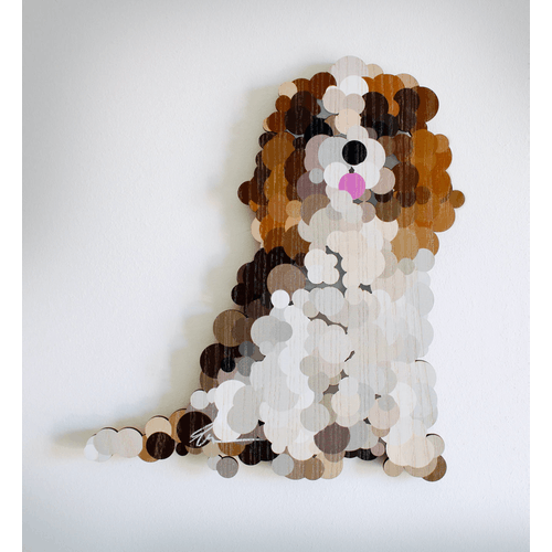 A Happy Pointillist King Charles Cavalier by Yoni Alter