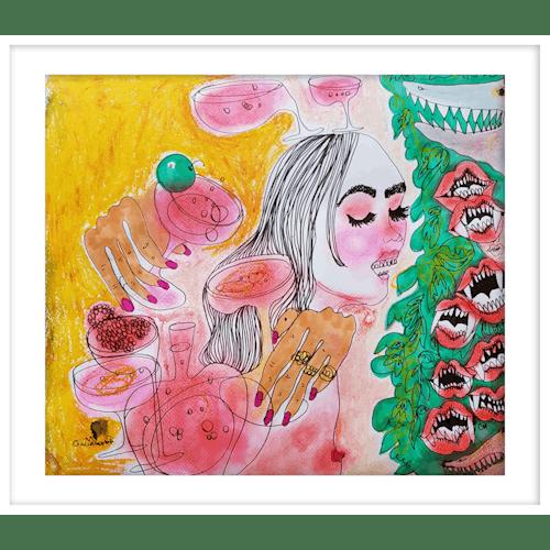 Lips whisper by Claudia Marchetti