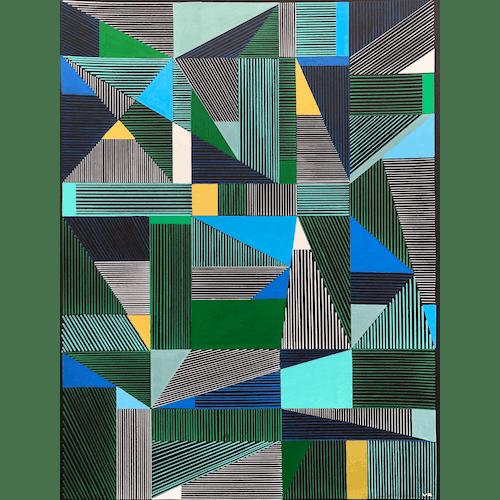 Multi Lines #4 by Veronica Romualdez