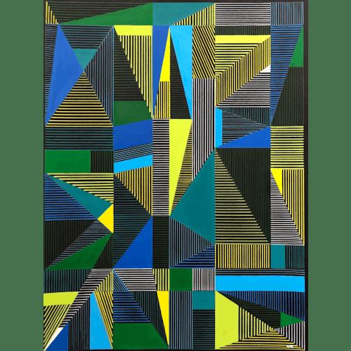Multi Lines #5 by Veronica Romualdez