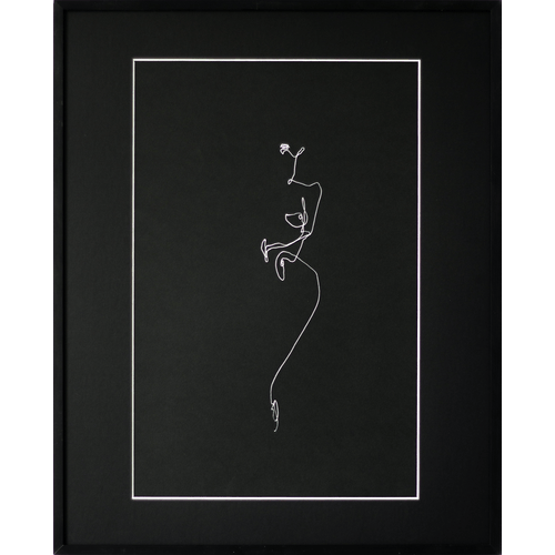 Nude on black paper 9 by Martin Tardy