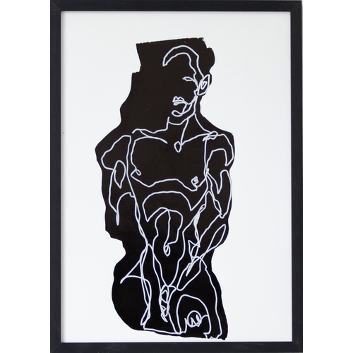 Man on black form by Martin Tardy