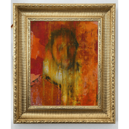 Portrait of a Man with Red and Yellow by Frans Smit