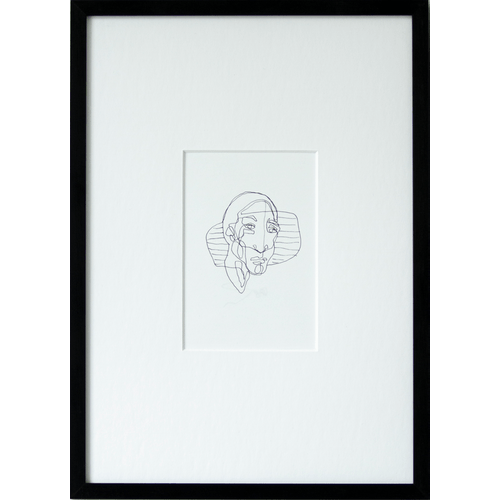 Small framed face 001 by Martin Tardy
