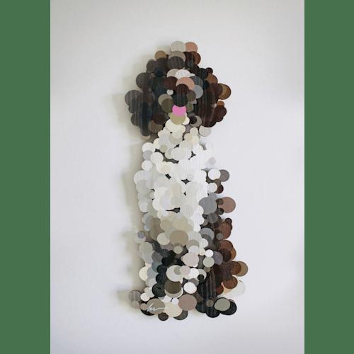 A Happy Pointillist Springer Spaniel by Yoni Alter