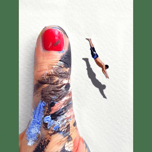 The cliff jumper by Golsa Golchini