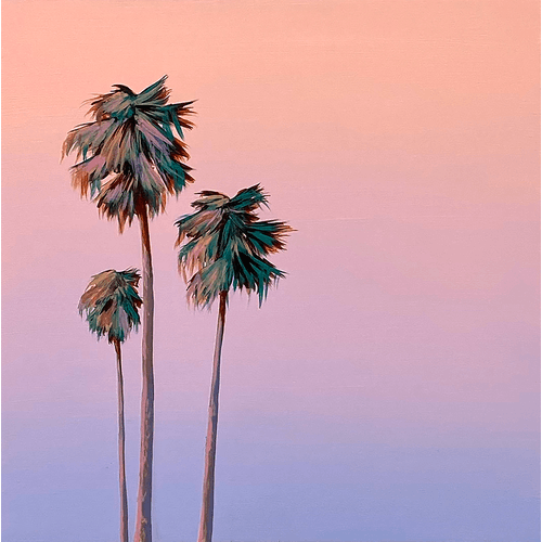Three Purple Palms by Kristin Moore