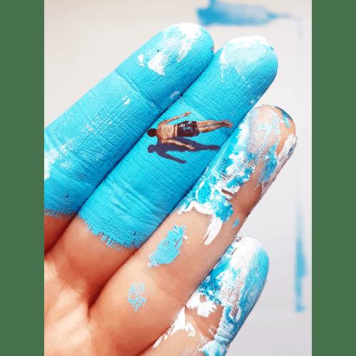 Under the blue by Golsa Golchini