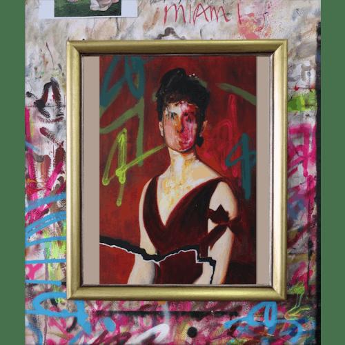 After Sargent, Lady in a Velvet Dress