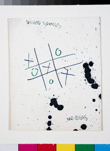 The postcard Basquiat sold to Andy Warhol.