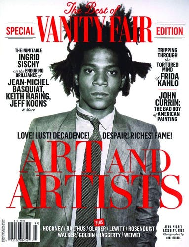 Basquiat on the cover of Vanity Fair.