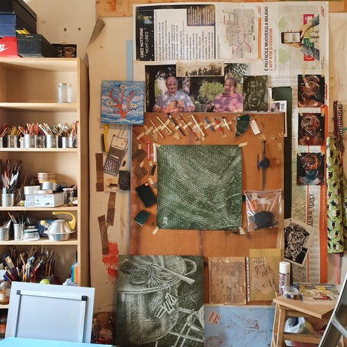 A look inside the studio at the different tools of Julian Jaramillo Torres.