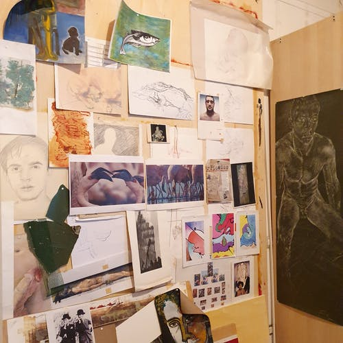 A look at some inspirational images inside the studio of Julian Jaramillo Torres.