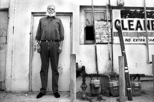 John Baldessari Outside his Studio, Santa Monica, CA, 1991.