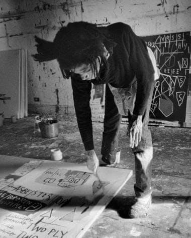 Basquiat in his Crosby Street studio, 1983.