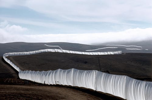 Christo and Jeanne-Claude Running Fence, Sonoma and Marin Counties, California, 1972-76.