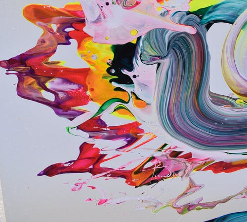 A close up shot of Alex Voinea's artwork AV 582, 2019.