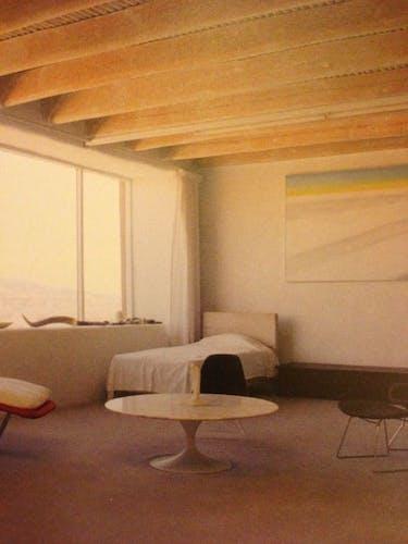 The minimalist bedroom of Georgia O'Keeffe.
