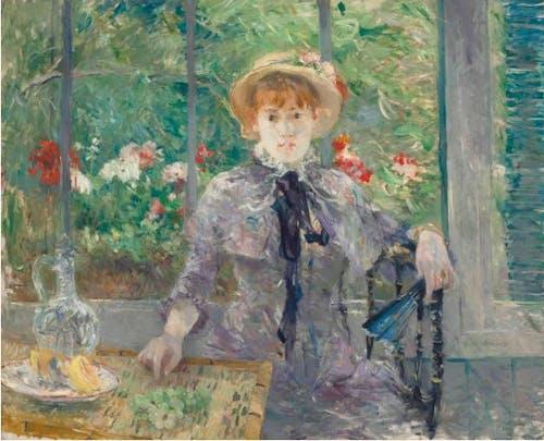 Berthe Morisot, Après le déjeuner (after lunch), 1881.