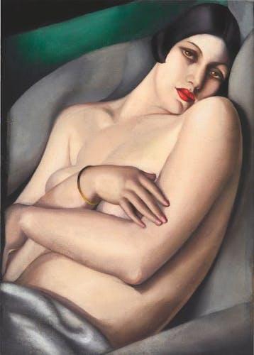 Tamara de Lempicka, Le rêve (Rafaëla sur fond vert), 1927.