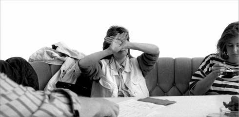 Cady Noland at Documenta IX in 2006.