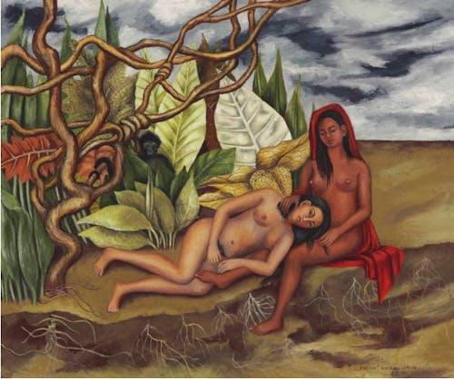 Frida Kahlo, Dos Desnudos en el Bosque (La Tierra Misma), 1939.