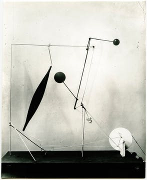 The motorized mobile that Duchamp liked, Untitled, 1931.