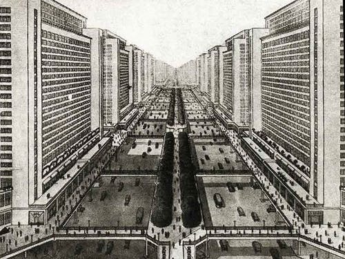 Le Corbusier's utopian vision for New York.
