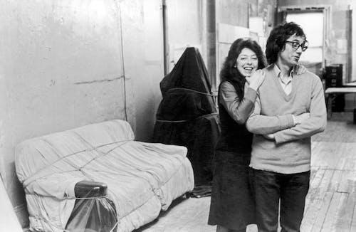 New York City, 1976 Christo and Jeanne-Claude in Christo's studio.