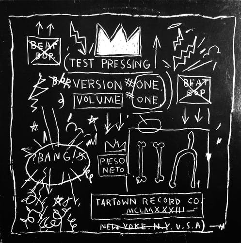 The special cover Basquiat designed for the limited edition pressing of Beat Bop quickly became a sought after collector's item.