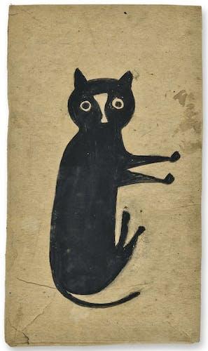 Bill Traylor, Black Cat, ca. 1939-42, image via Allan Katz Americana.