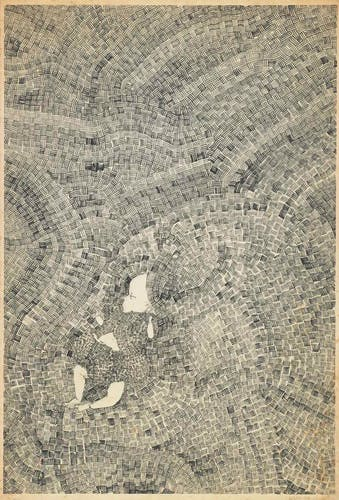 A drawing by Ruth Asawa featurig a small child.