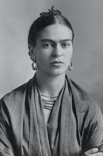 Frida Kahlo, photographed by Guillermo Kahlo in 1932.
