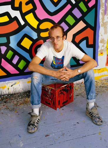 Keith Haring in his studio.