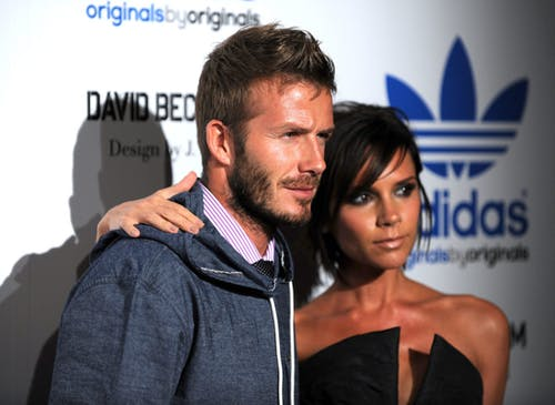 David and Victoria Beckham on the red carpet