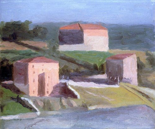 Giorgio Morandi, On the Outskirts of a Town, 1941, Oil on Canvas.