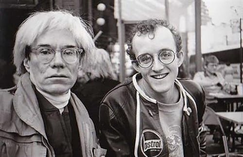 Keith Haring and Andy Warhol, ca. 1980.