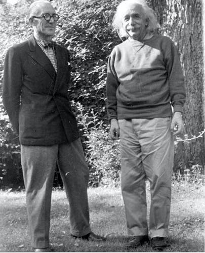 Le Corbusier and Albert Einstein met on one of his trips to the city for the UN project.